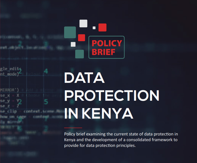 A policy brief on data protection in Kenya