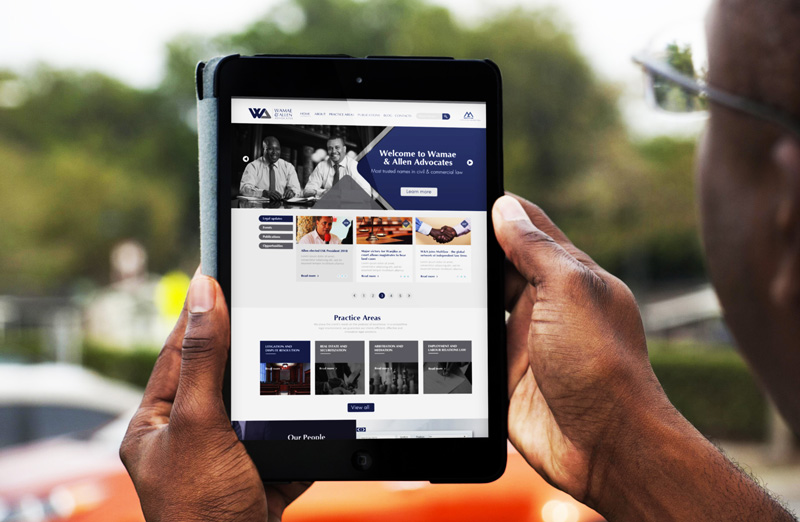 Wamae & Allen, the most trusted names in civil & commercial law gets a new website