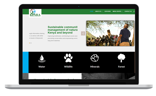KeNRA website consolidating community efforts in natural resources management